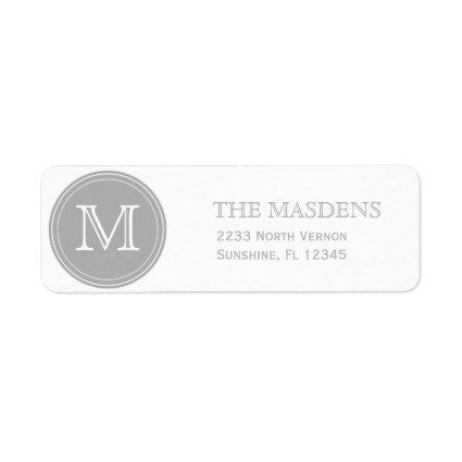 Gray Personalized Custom Monogrammed Label