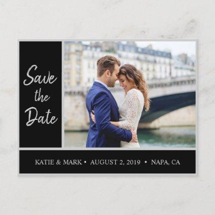 Gray Save the Date Phot Announcements Cards