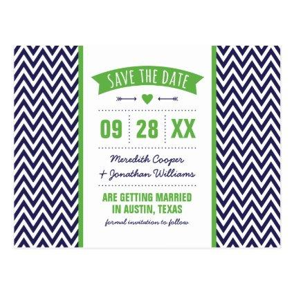 Green and Navy Blue Modern Chevron