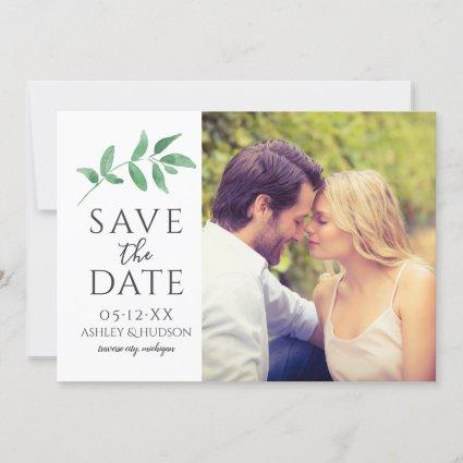 Green Branch   Wedding Photo Save The Date