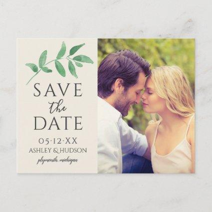 Green Branch | Wedding Photo Save the Date Announcement