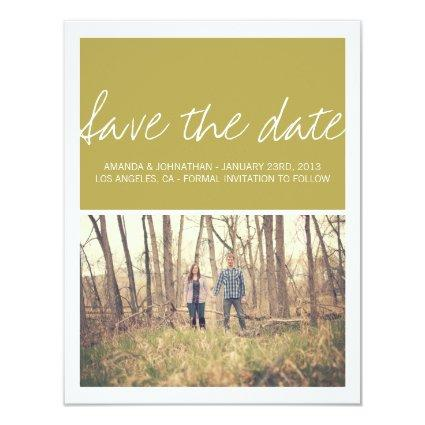 Green Chic Photo Save The Date Announcements