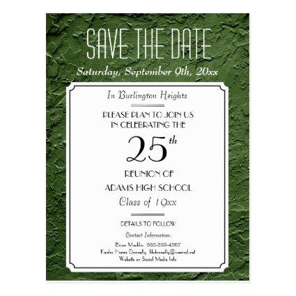 Green Faux Textured Party or Reunion