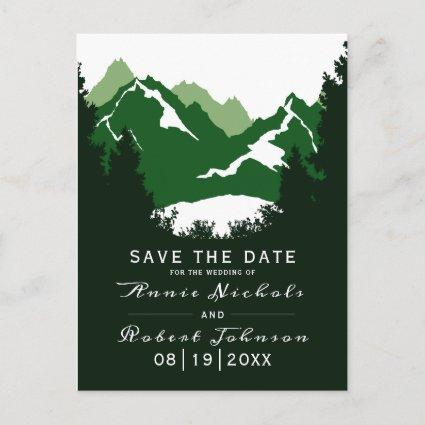 Green mountain winter wedding Save the Date Announcement