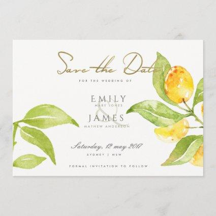 GREEN WATERCOLOUR FOLIAGE OLIVE SAVE THE DATE