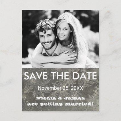 Grey Winter Ice SAVE THE DATE Photo