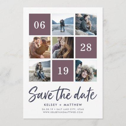 Grid Collage | Photo Save the Date