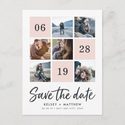 Grid Collage | Photo Save the Date Announcements Cards