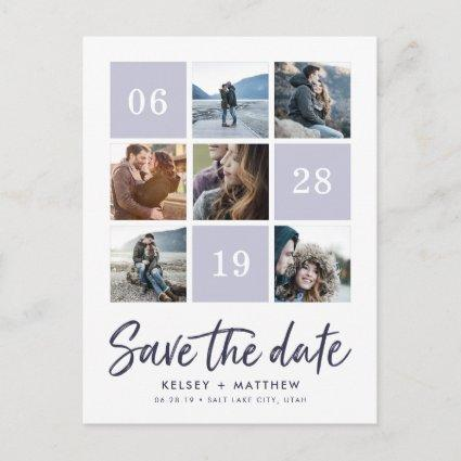Grid Collage | Photo Save the Date Announcement