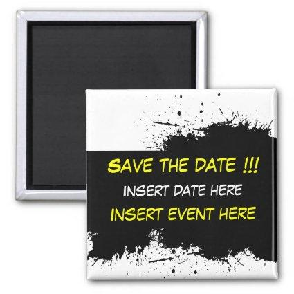 Grunge Ink Stain - Save the date Magnet Template