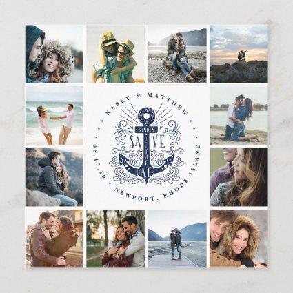 Hand Drawn Anchor   Photo Collage Save the Date