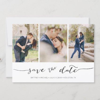 Hand Lettered 3 Image |  Save the Date Card