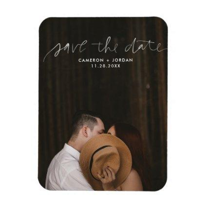 Hand Lettered Save the Date Flexi Magnets