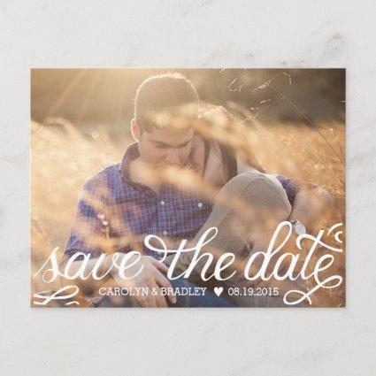 Hand Lettered Save the Date Cards