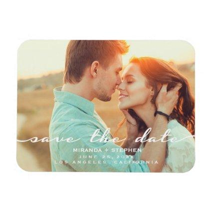 Hand Lettered Style Save the Date Wedding Magnets