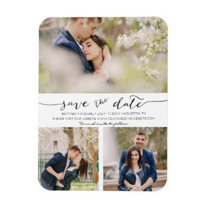 Hand Lettered with Images |  Save the Date Magnet