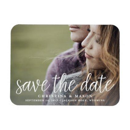 Handwritten Script | Photo Save the Date Magnet