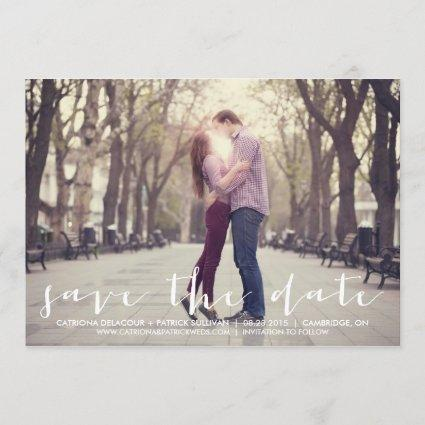 Handwritten Script Save the Date Announcement