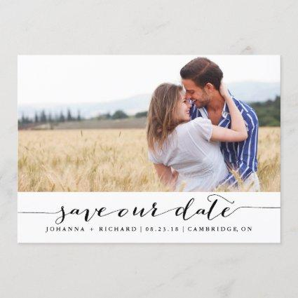 Handwritten Script Save the Date Announcements