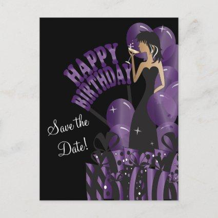 Happy Birthday Diva Girl | DIY Name | Purple Announcement