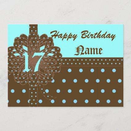 Happy Seventeen Birthday Gift Invitation!-Cust. Save The Date
