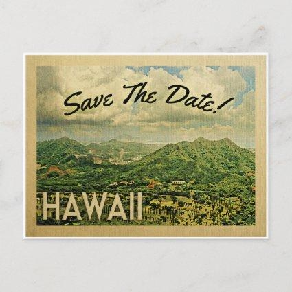 Hawaii Save The Date Vintage s
