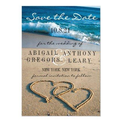 Heart on the Shore Save the Date Picture Magnet
