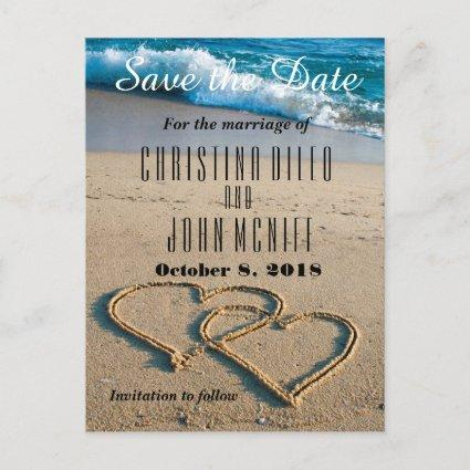 Heart on the Shore Wedding Save the Date Announcement