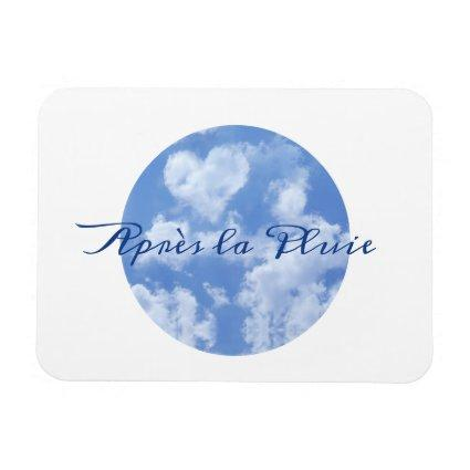 Heart Shaped Cloud Lovely Blue Template Elegant Magnet