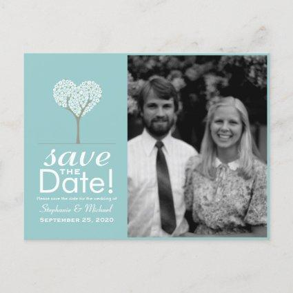Heart Tree Save the Date Announcements Cards