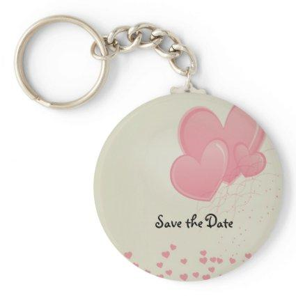 Hearty Hearts Save the Date Keychain