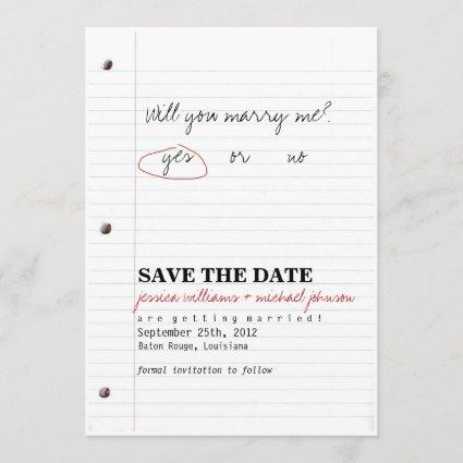 High School Sweethearts Save the Date