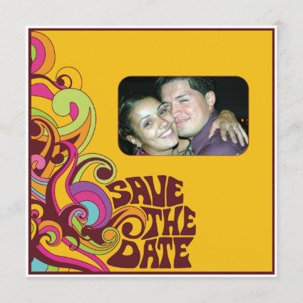 Hippy Save the Date Photo Invitation