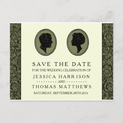 His & Hers Art Deco Silhouette Wedding Collection Announcement