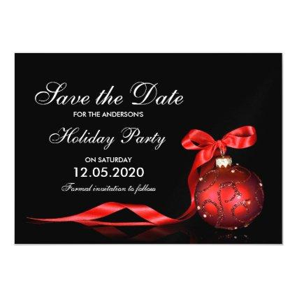 Holiday And Christmas Party Save The Dates Magnetic Invitation