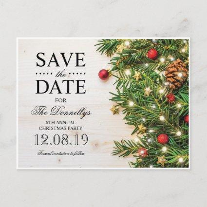 Holiday Christmas Party Save the Date Announcement