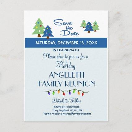 Holiday Family Reunion, Party, Event Save the Date Announcement