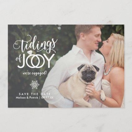 Holiday Save the Date Engagement Christmas Card