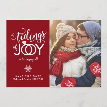 Holiday Save the Date Newlywed Christmas Cards
