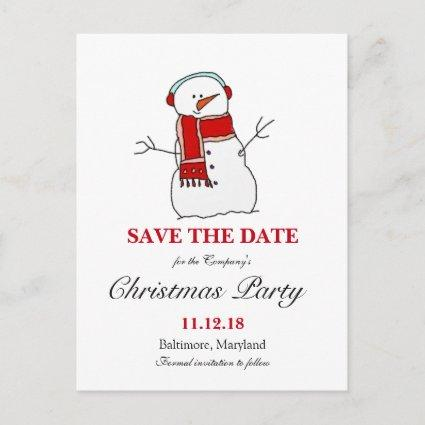 Holiday Snowman | Christmas Party Save The Date Announcement