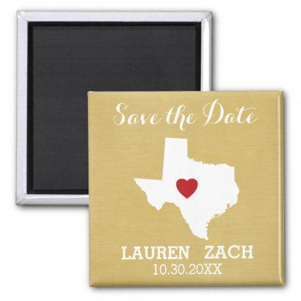 Home State Wedding Save the Date Texas Magnets