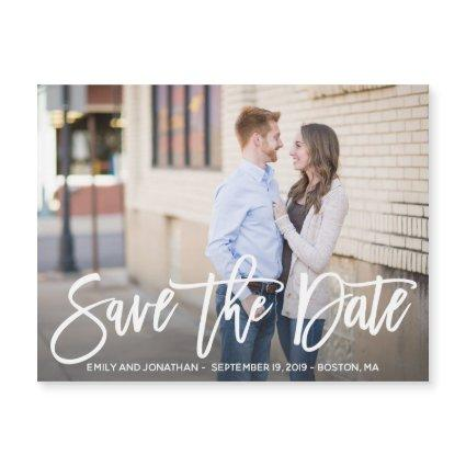 Horizontal Picture Save the Date Magnet Wedding