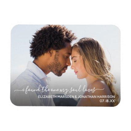 I Found The One Bible Quote Elegant Script Magnets