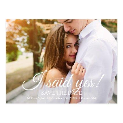 I said Yes   Save the Date Cards