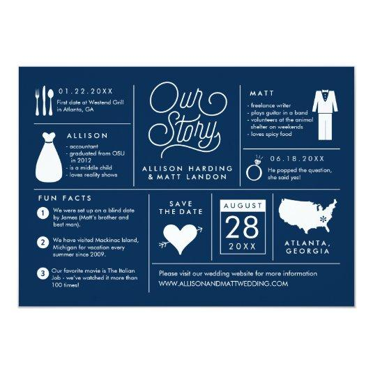 Infographic Save the Date Wedding Announcement