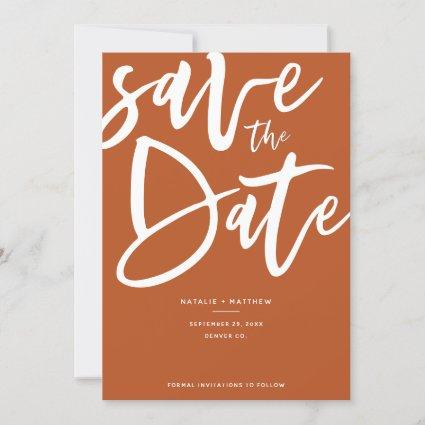 Inky script save the date