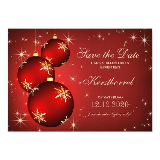 Invitation for Christmas kerstborrel Save The Date