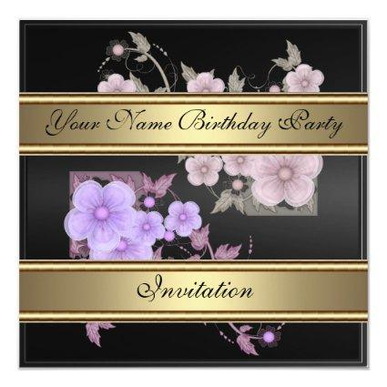 Invitation Vintage Victorian Floral Any Birthday