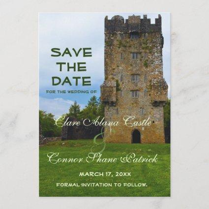 Irish Country Castle Wedding Save The Date