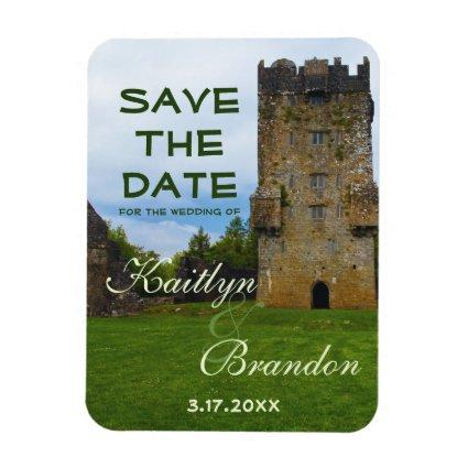 Irish Country Castle Wedding Save The Date Magnet